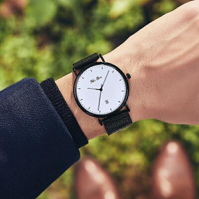 男士手表时尚潮流新款学生简约休闲机械男表