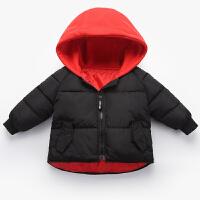 冬季2018新款儿童羽绒男童女童加厚冬装宝宝棉衣小童保暖棉袄外套秋冬新款 黑色 斜口袋