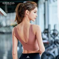 【限时秒杀】Kombucha瑜伽健身内衣2019新款女士性感细带美背健身无钢圈聚拢防震运动文胸JCWX101