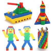 火箭子弹头积木玩具塑料拼插拼装幼儿园益智力1-3-6周岁男孩女孩