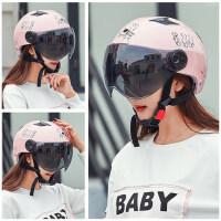 电动摩托车头盔防晒半盔夏季男女通用可爱个性轻便式四季安全帽