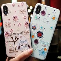 苹果X手机壳xs个性创意iphone xs max新款男女款可爱硅胶全包防摔软套8x韩国plus潮牌卡通10薄磨砂挂绳