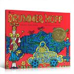 英文原版绘本 凯迪克金奖平装 Drummer Hoff 鼓手霍夫 堆叠的诗歌 木版画绘本 儿童睡前故事绘本