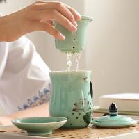 茶杯陶瓷带盖过滤内胆杯子办公室个人茶具