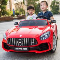 新款双人座儿童电动汽车四轮四驱双重减震儿童跑车可坐人小孩玩具车遥控童车男女宝宝节日礼物