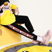 【4折价:127.6】B.duck小黄鸭童装 新款女童中小童针织裤学生加厚长裤休闲裤BF5063902