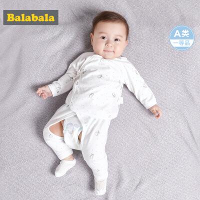 巴拉巴拉夏装新款短袖T恤裤子男婴儿新生儿套装运动两件套潮