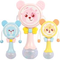 男孩女宝宝3-6-12个月 婴儿玩具拨浪鼓0-1岁可啃咬手摇铃音乐