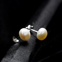 饰品s925银淡水珍珠耳钉耳环女气质简约百搭耳饰