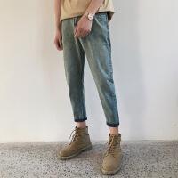 九分牛仔裤男小脚裤修身韩版春季9分裤bf原宿风宽松潮流复古裤子