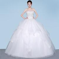 婚纱礼服2018新款冬季新娘结婚孕妇抹胸大码齐地森系显瘦蓬蓬裙轻 白色