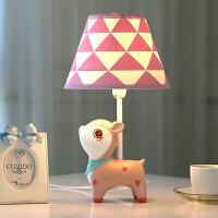 小鹿可调光LED台灯卧室床头 创意儿童房可爱公主女孩