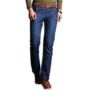 1号牛仔  男装时尚新款百纳牛仔裤简约风格男长裤
