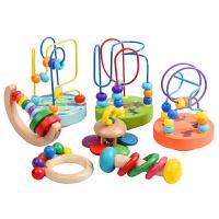 儿童手摇铃玩具木制手抓摇铃儿童乐器 早教玩具