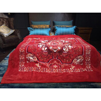 欧式婚庆毯子拉舍尔毛毯双层加厚结婚礼品毛毯大绒被子盖毯 200cm*230cm9斤