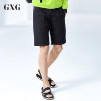 GXG短裤男装 夏季青年修身潮流气质时尚都市男士藏青色斯文短裤
