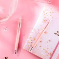 晨光樱花季限定中性笔按动办公签字笔学生0.5mm黑水笔 AGPH3709