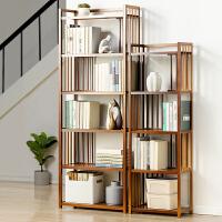 简易书架置物架子落地现代简约实木客厅多层儿童小书柜收纳架学生
