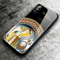 小米mix2s手机壳玻璃艺术6/6x/5x保护套男女8全包小米8探索版无指纹孔硬壳气囊