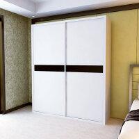 百意空间 定制柜子 定做环保衣柜 组合装大容量 储物柜 移动推拉门大衣柜 趟门衣橱