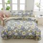 伊迪梦家纺 全棉四件套床单式 斜纹印花纯棉面料 1.2m1.8米单人双人床HC1804