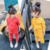 童装女童春装套装2018新款3春秋季小童4儿童潮衣5-6岁宝宝两件套