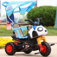 儿童多功能电动摩托三轮车婴儿手推脚踏车可坐可骑宝宝电瓶玩具车