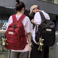 明星同款新款初中生书包女韩版高中学生大容量大学生背包男双肩包