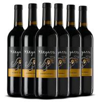 澳洲袋鼠红酒整箱 澳大利亚原瓶原装进口袋鼠(ROO)干红葡萄酒750*6支 金袋鼠西拉6支整箱