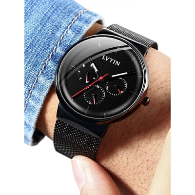 手表男士学生运动韩版简约潮流休闲非机械电子表