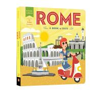 【全店300减100】英文原版进口绘本 你好,世界上的罗马时间之书 Hello,world Rome A Book of