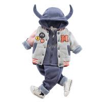 秋冬装0-1-2-3岁半男宝宝衣服冬天婴儿童棉衣套装女童装三件套潮