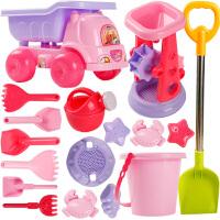 挖沙漏铲子工具决明子女孩玩具 儿童沙滩玩具车套装大号宝宝玩沙子
