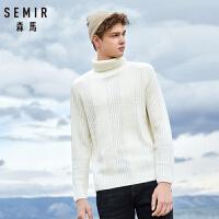 森马毛衣男高领毛衫男士2018冬季韩版青少年保暖针织衫新款线衣