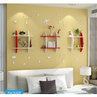 墙上置物架壁挂墙壁木架子卧室客厅隔板电视背景墙装饰架