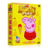 小猪佩奇中英文双语早教动画片dvd碟片幼儿童学英语启蒙教材光盘