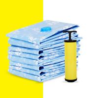 真空压缩袋5只装特大中号棉被子枕头衣物送泵打包整理舞台收纳袋 三种颜色随机发