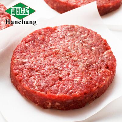 酣畅早餐牛肉饼100g*10片共1000g 汉堡肉饼西餐厅肉饼烧烤无需解冻 直接烹饪 简单方便