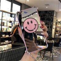 韩国笑脸苹果6s手机壳7/8plus套iPhoneX镜面全包防摔新款潮牌女sp
