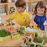 立体拼图儿童拼装手工diy制作女孩种植3-6周岁创意玩具