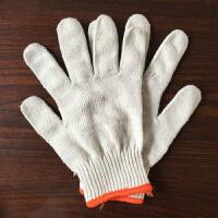 劳保手套 线手套500克棉纱细线加密手套工人手部作业防护手套 500克白色纱线手套