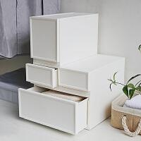 组合抽屉式收纳箱内衣收纳盒衣物整理箱塑料收纳衣柜储物箱
