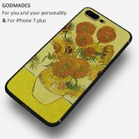 油画向日葵海景苹果7plus手机壳iphone6男女款6splus硅胶全包防摔
