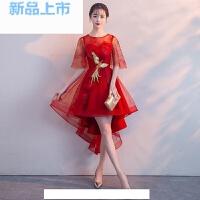 晚礼服2018宴会短款韩版小礼服连衣裙女伴娘服闺蜜装生日聚会