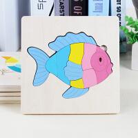 拼图右脑拼板积木玩具2-3周岁宝宝动物记忆