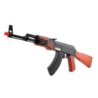 儿童玩具枪电动声光男孩冲锋枪3-6岁5道具机枪 可跳弹AK47 送电池