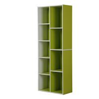 [当当自营]慧乐家 书柜书架 鲁比克创意九格组合柜子 储物收纳置物柜 绿白色11108-2