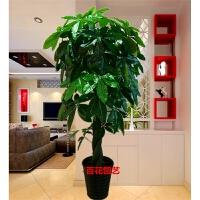 假树发财树仿真植物落地盆栽大型客厅盆景假花塑料花装饰仿真绿植SN4973