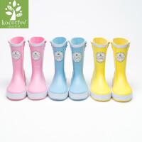 kk树儿童雨鞋男童可爱雨靴防滑学生专用水鞋女童公主宝宝四季通用