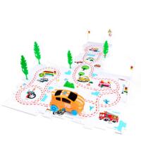 儿童拼图玩具电动轨道车小汽车儿童主题场景立体拼图1-3-6岁